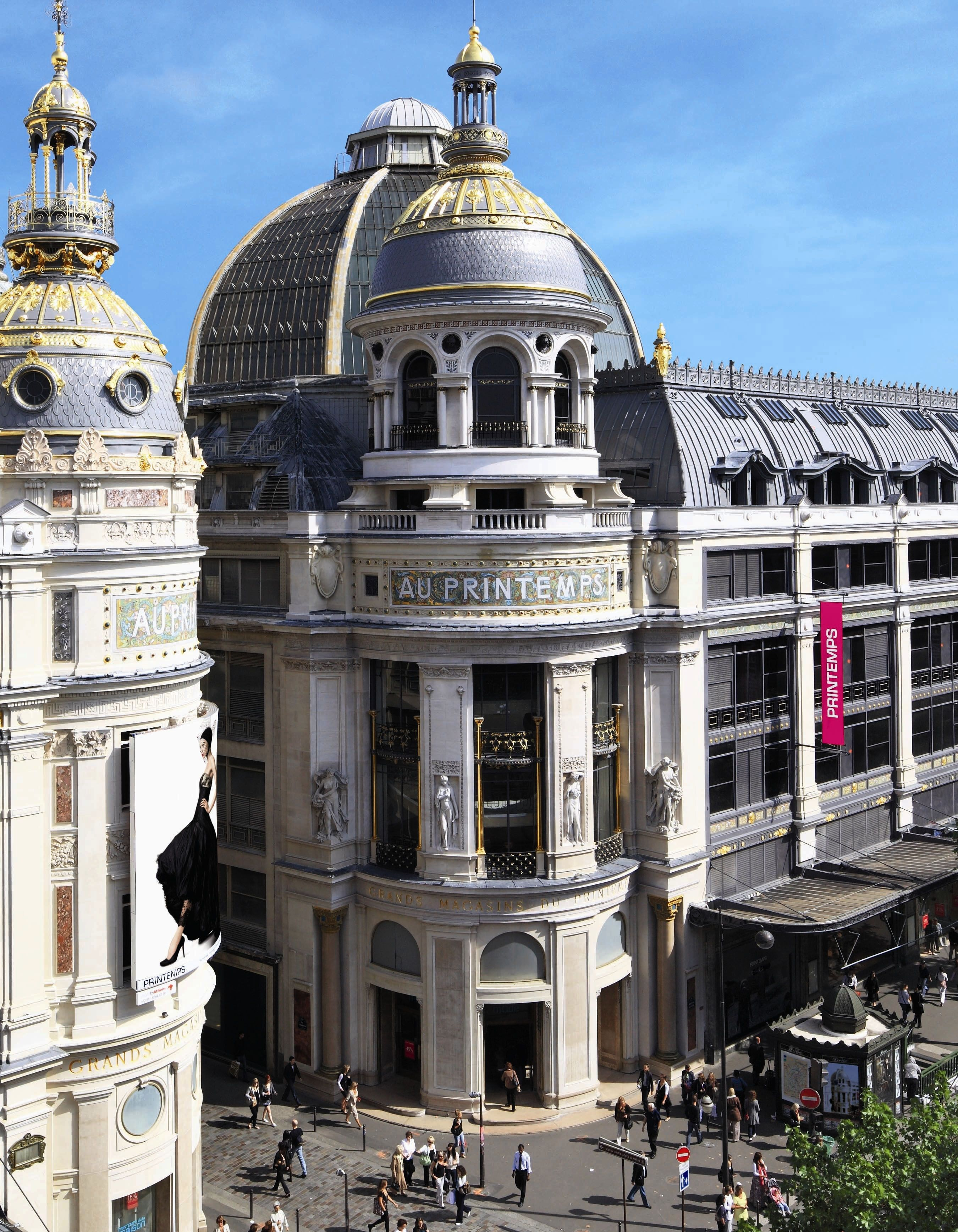 Le Printemps Paris The Au Printemps Departmental Store At Boulevard Haussmann Paris