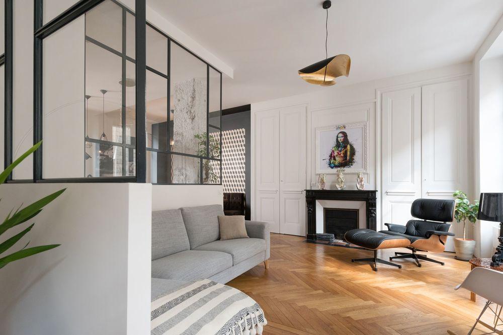 Avant Apres Un Appartement Modernise A Lyon En 2020 Renovation Appartement Appartements Anciens Appartement