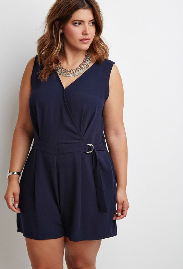 11ebf4d8ec95 5 beautiful plus size rompers for Christmas parties