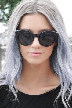 gray hair with blue ends - Google Search | Hair | Pinterest | Blue ...