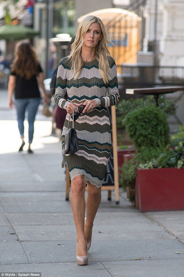 Fashion break  Nicky Hilton Rothschild took a break from fashion shows this  week to apprec. 4ab1626f66e6f