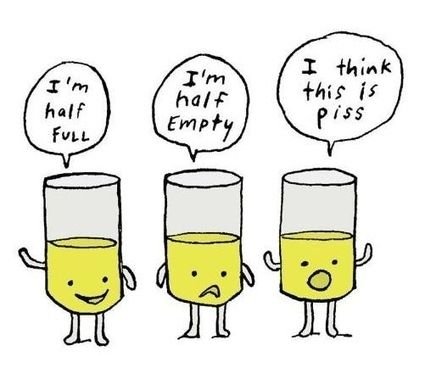 Image result for glass half full cartoon