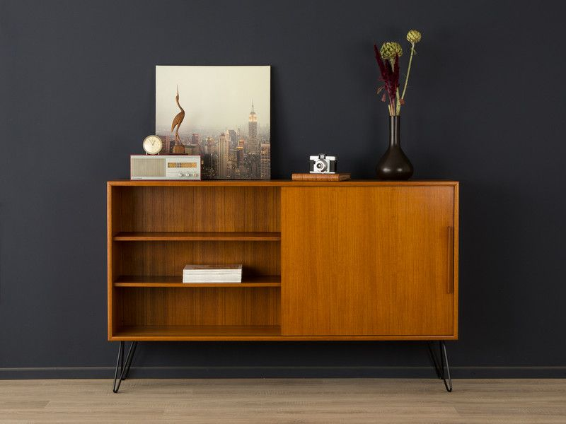 teak sideboard 60er kommode 50er vintage wk von mid century friends auf. Black Bedroom Furniture Sets. Home Design Ideas