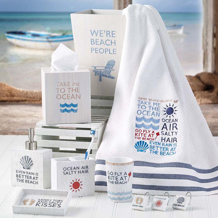 Buy avanti 036766wny beach words 3 pc towel set beach