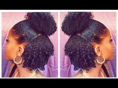 Half Up Half Down On Short Natural Hair Protective Styles