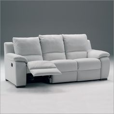 Beau White Leather Recliner Sofa | Choosing Colors Leather Reclining Sofa  Reclining Sofa And Benefits For .