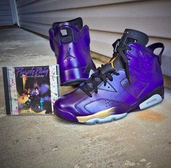 f788a17b334c16 Purple Rain Air Jordan 6 Customs Purple Shoes