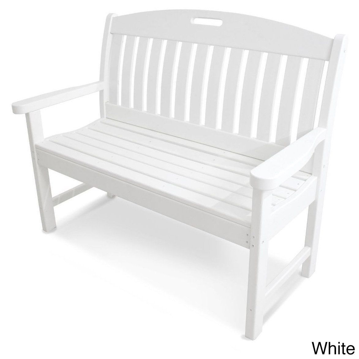 Prime Polywood Black Nautical 48 Inch Bench White Size 48 Gmtry Best Dining Table And Chair Ideas Images Gmtryco