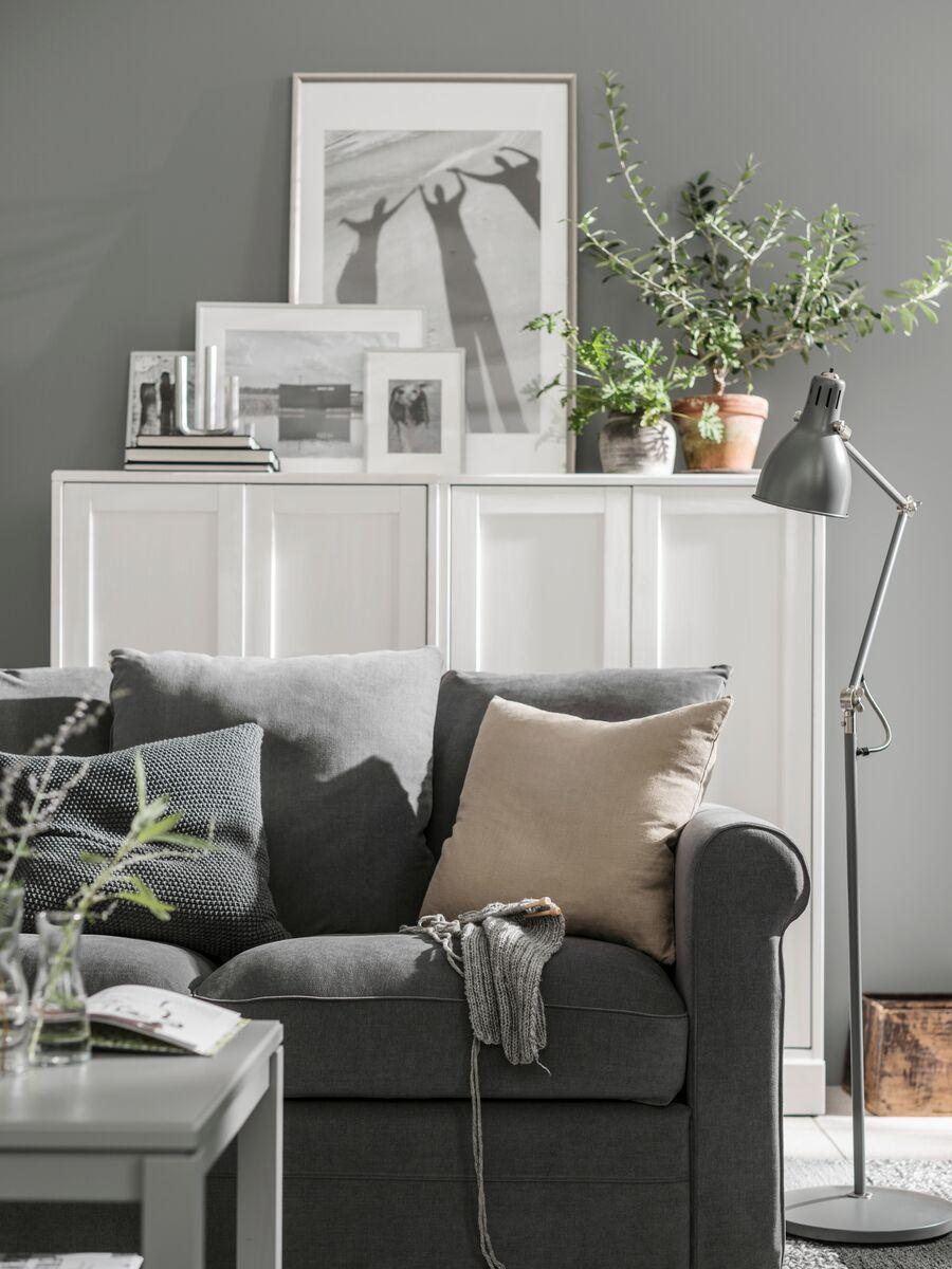 Aina Cushion Cover Beige 50x50 Cm Ikea Switzerland Ikea Interior Dark Grey Living Room Living Room Grey [ 1200 x 900 Pixel ]