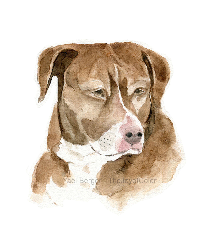 Custom Dog Watercolor Custom Pet Watercolor Custom Cat Painting