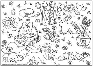 How Many Easter Eggs Colouring Page And Counting Puzzle
