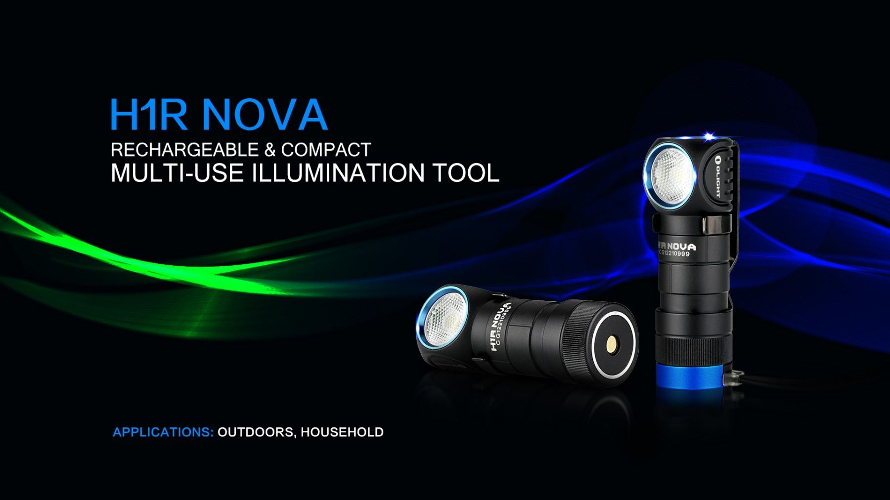 Olight H1R Nova   600 Lumen EDC Und Head Light  Neutral White Aufladbar! LED