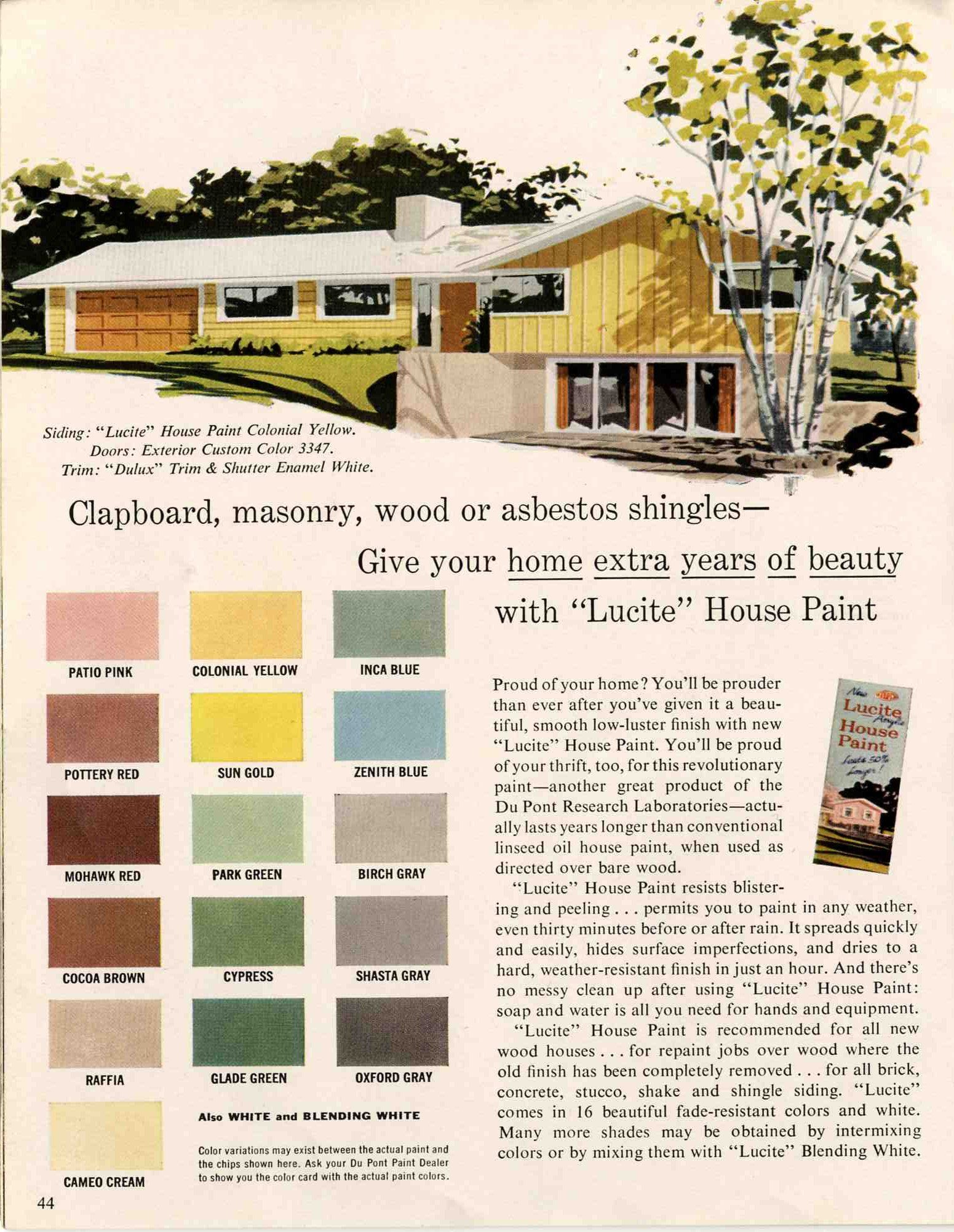 Exterior colors for 1960 houses | 1960s, House and Mid century