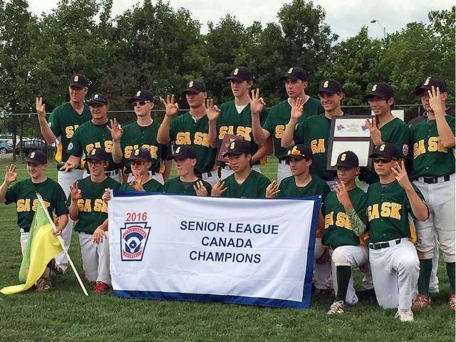 Saskatchewan Wins Third Consecutive Canadian Senior Little League Title Little League Baseball Playoffs League