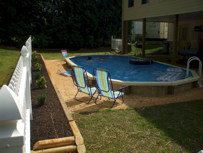 60 Incredible Ground Pool Decorating Ideas Semi Inground