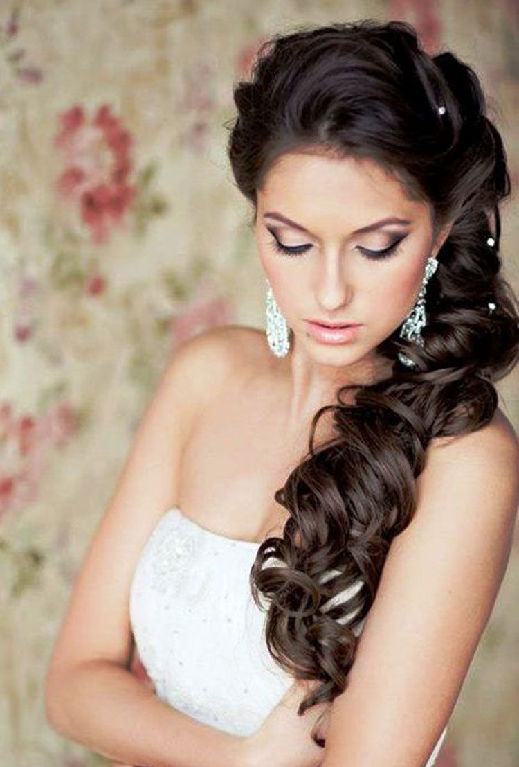 Wedding Black hairstyles to the side model