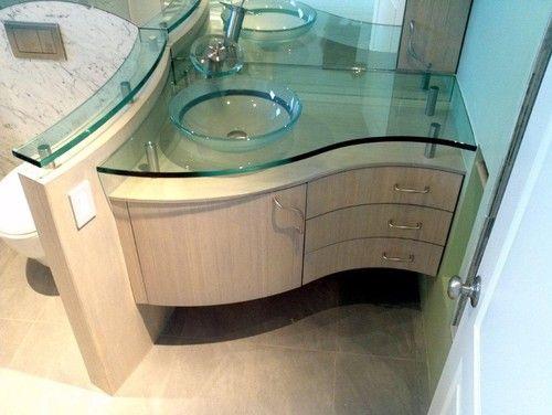 Custom Curved Bamboo Bath Vanity Contemporary Bathroom Vanities And Sink Consoles Custom Bathroom Vanity Master Bathroom Vanity Custom Bathroom