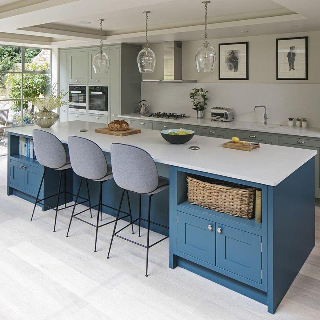 We Ve Got Total Kitchen Envy Open Plan Kitchen Living Room Living Room Kitchen Interior Design Kitchen Small