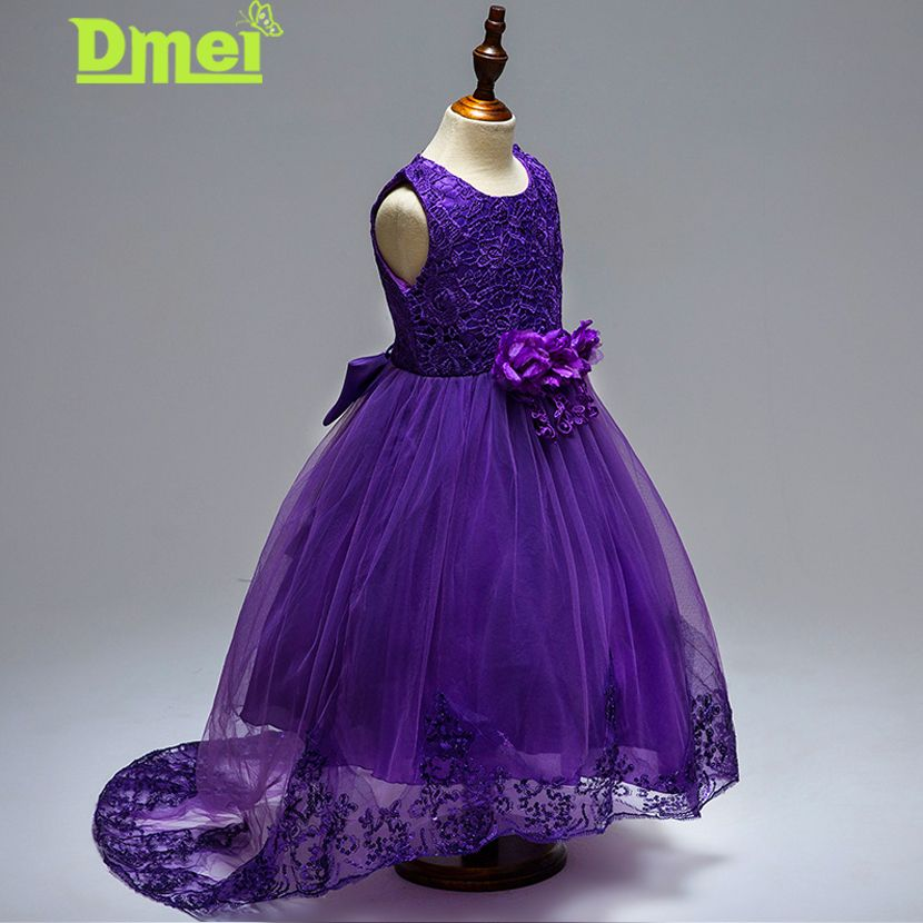 Flower Girls Dresses Wedding Kids Girls Princess Dress Sequins Lace ...