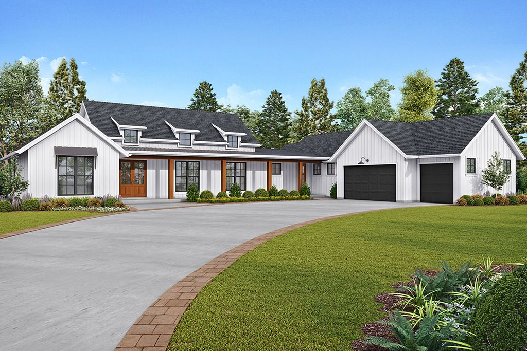 This Farmhouse Design Floor Plan Is 2495 Sq Ft And Has 3 Bedrooms And Has 2 5 Bathroom In 2020 Farmhouse Style House Plans Farmhouse Style House Modern Farmhouse Plans