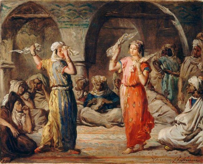 Danseuses marocaines. La danse des mouchoirs (Chasseriau Théodore) - Muzeo.com