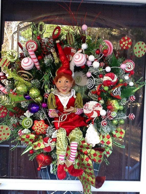 Christmas Elf Wreath by WreathsEtc on Etsy, $229.00