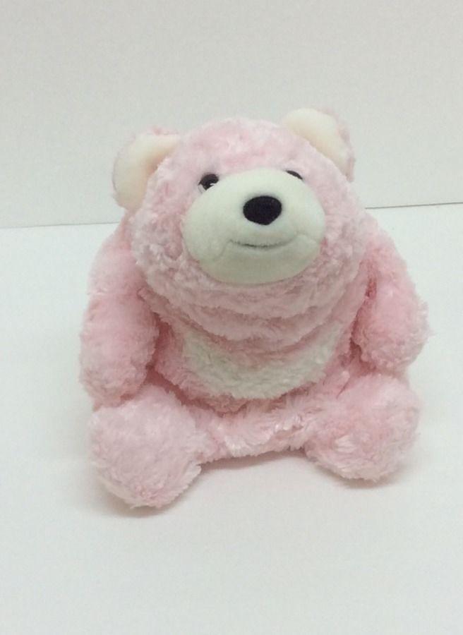 "set//2 Pottery Barn Kids 1 Pink /& 1 Blue Gingham Bunny 21/"" plush stuffed animal"
