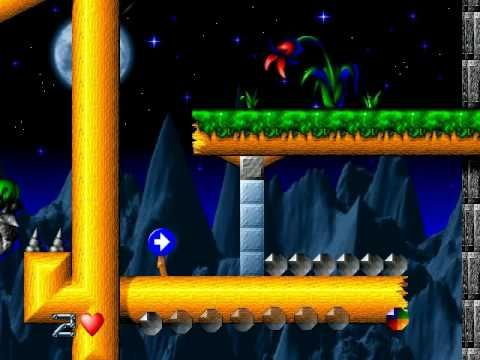 Moon Child Windows 95/98 platform action game (1997) — demo video
