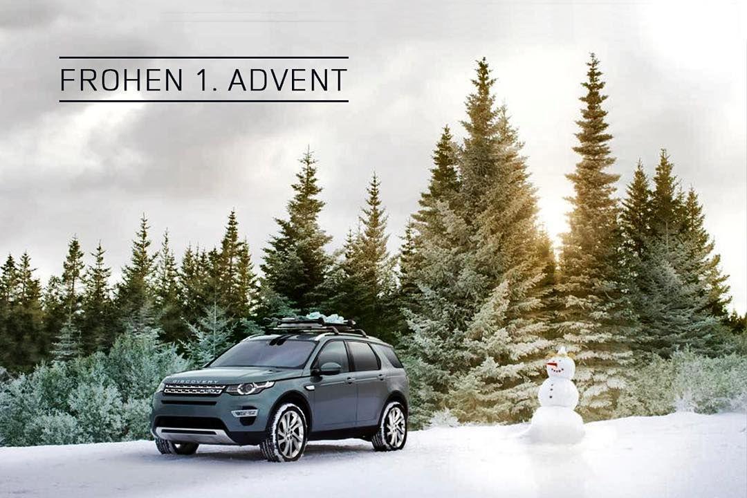 Wir wünschen einen frohen 1. Advent! #LandRover #aboveandbeyond #discoverysport #schnee #schneemann #advent #winter by landroverde
