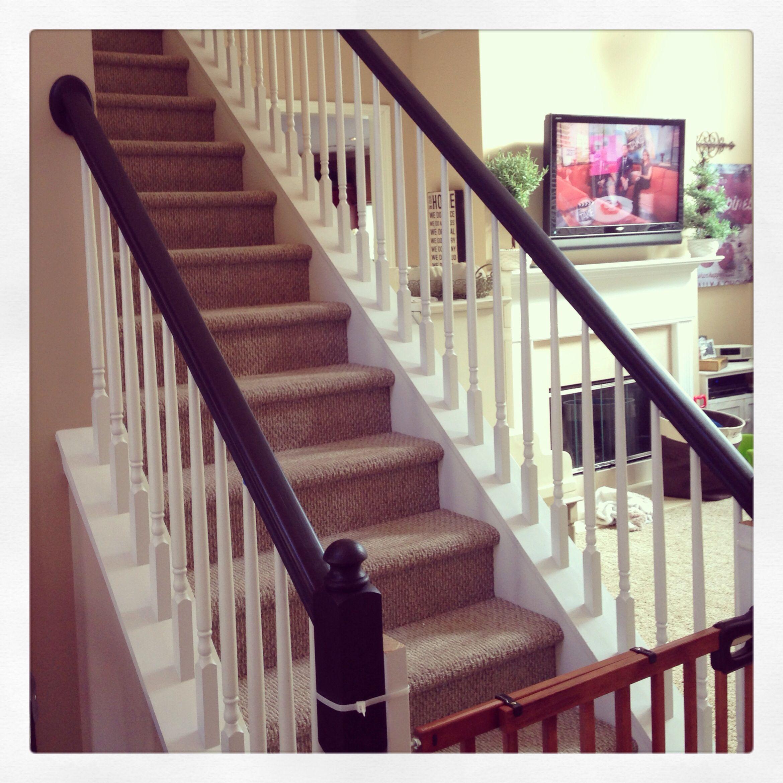 Best Painted Stair Rails Annie Sloan Chalk Paint In Graphite 640 x 480