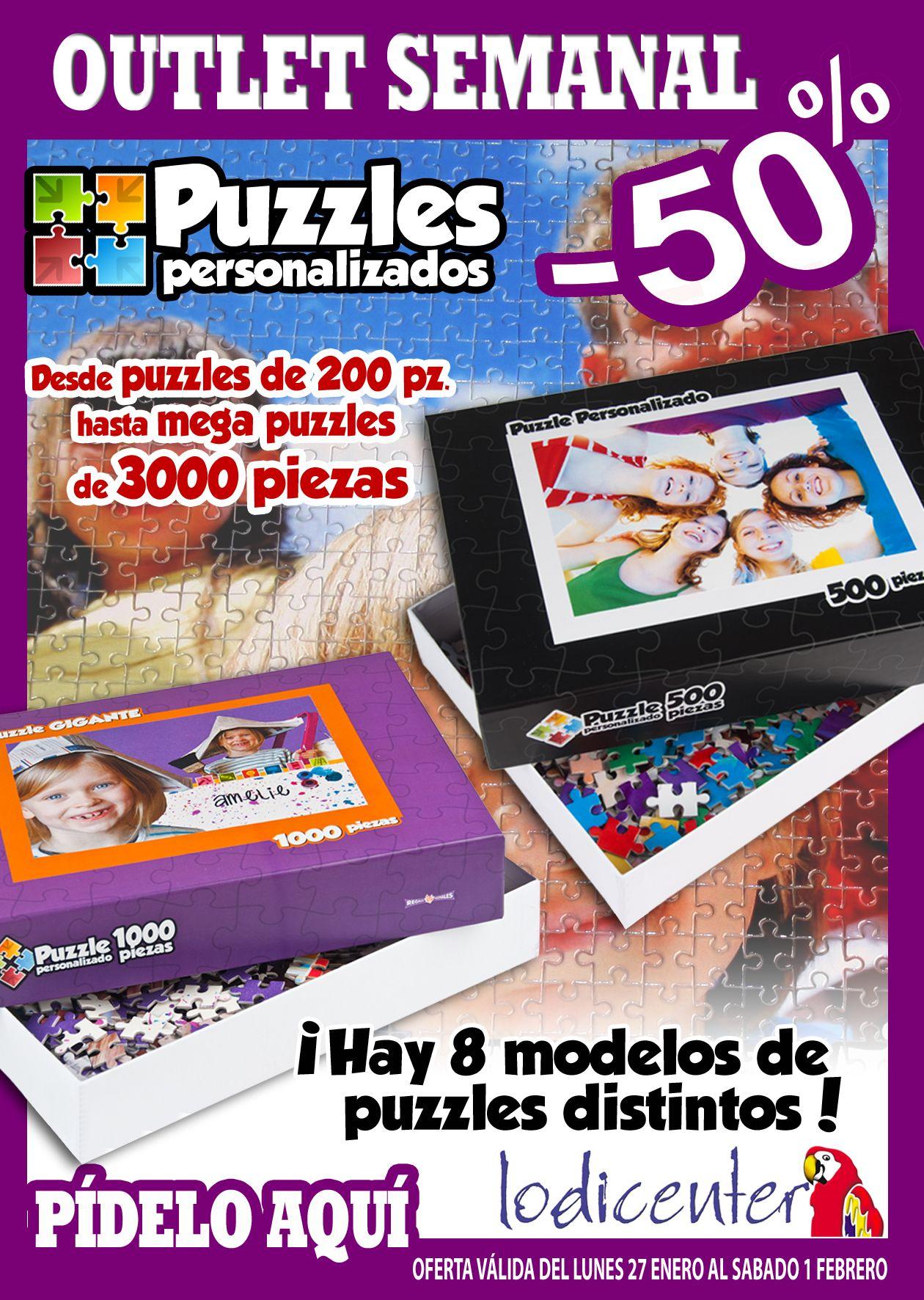Promoción de puzzles personalizados al 50%