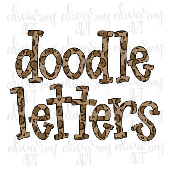Download Leopard Doodle Letters Alphabet   Hand Drawn Alpha Pack ...