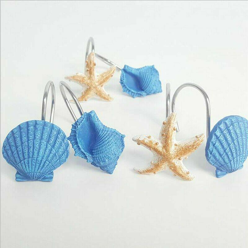 Faux Shell Bathroom Beach Decor Seashell Shower Curtain Hooks
