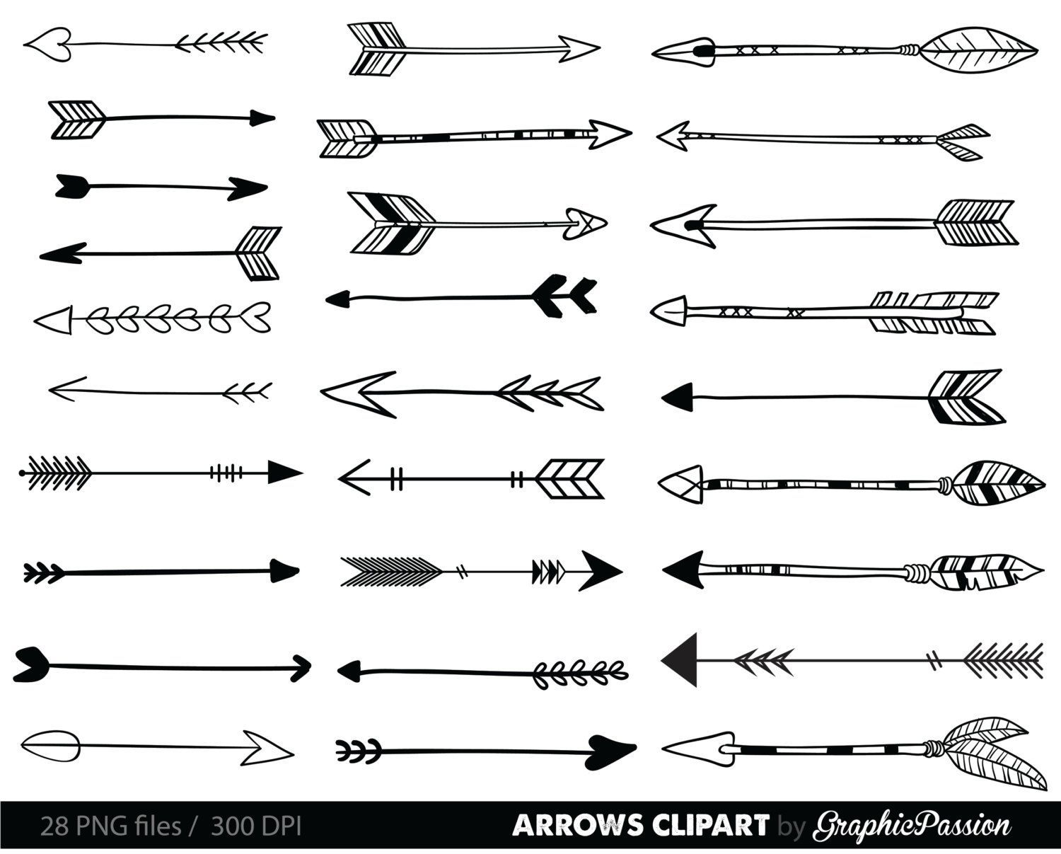 Image result for fun arrows clipart black and white