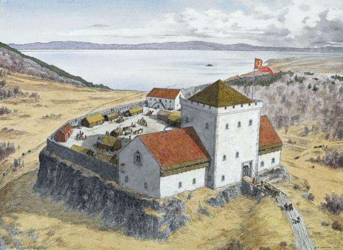 King Sverre's Castle of Sverresborg by K-P Keller, 2005