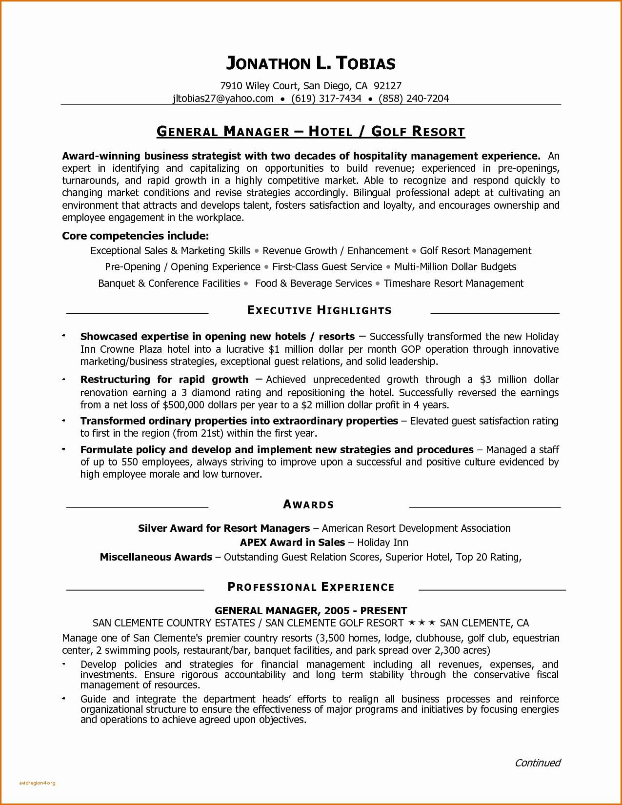 80 Beautiful Images Of Resume Examples For Golf Professional Check