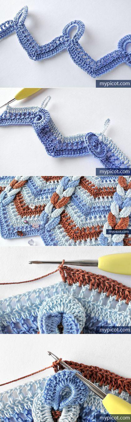 La labor de punto por el gancho | manta estela | Pinterest | Labores ...