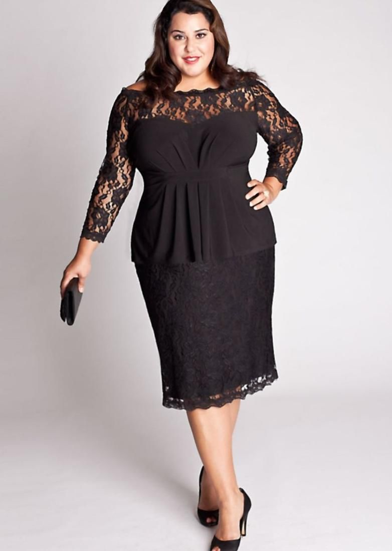 2e7af227a19 Black Lace Plus Size Cocktail Dresses - Darius Cordell Fashion Ltd