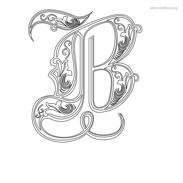 picture about Printable Fancy Letters named Stencil Letter Attractive B Presents Letter stencils
