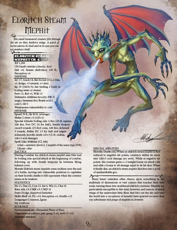 Aventyr Bestiary for the Pathfinder Roleplaying Game by