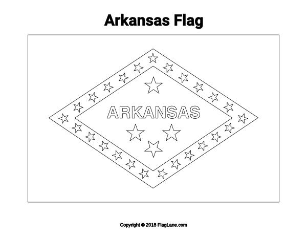 Free Arkansas Flag Coloring Page Download It At Flaglane