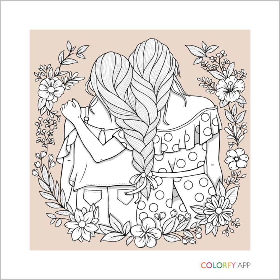Pin By Darlene Yost On Coloring Bff Drawings Coloring Pages Cute Coloring Pages