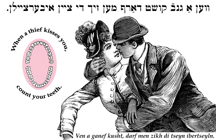 When a thief kisses you, count your teeth. | Yiddish quotes, Jewish humor,  Kiss you