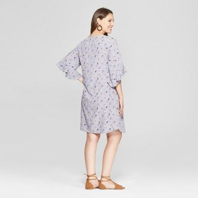 06b544fa41722 Maternity Woven Floral Print Tulip Sleeve Dress - Isabel Maternity by Ingrid