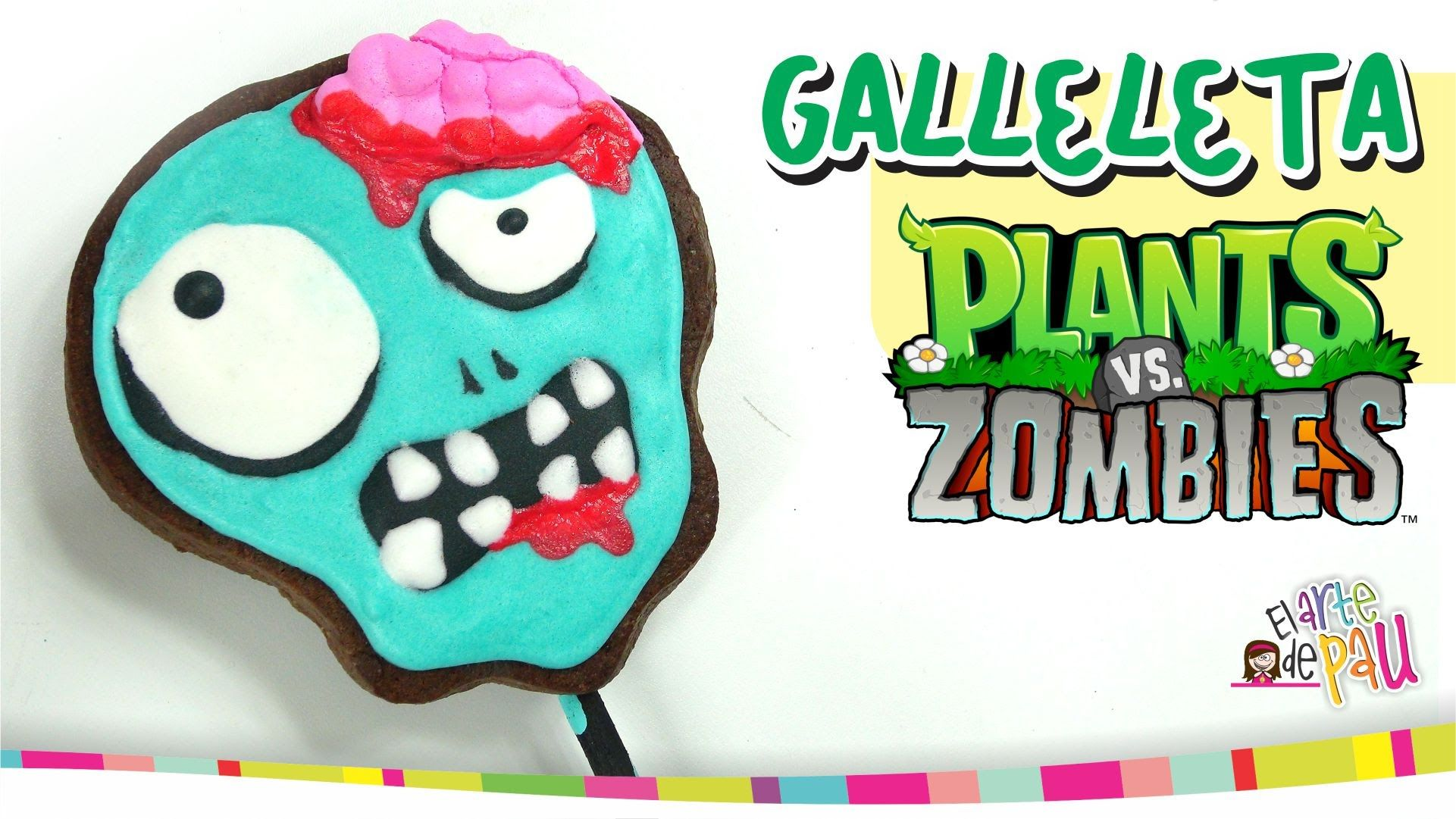 PLANTS VS ZOMBIES Lollipop Cookies / Paletas de Galleta | cakes idea ...