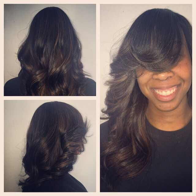 Full Sew In No Hair Left Out Www Styleseat Com