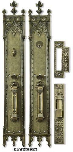 Victorian Amiens Gothic Locking Mortise Entry Door Set 22 3 4 Tall Zlw275set Antique Door Hardware Door Sets Door Hardware