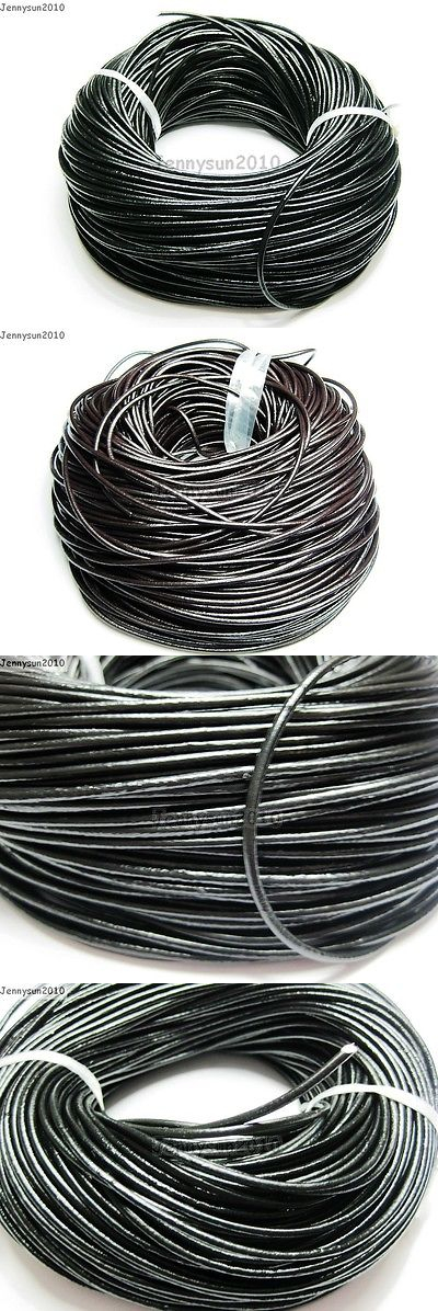 Cord 67718: Genuine Leather Cord Thread For Diy Bracelet Necklace Jewelry Making 10M 100M BUY IT NOW ONLY: $30.65