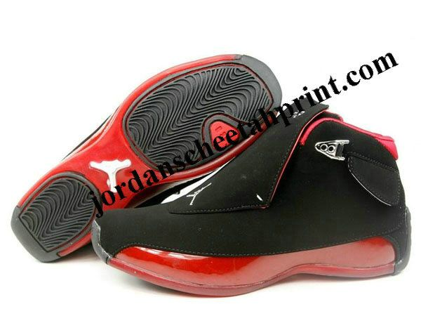 7970ce5e7280d4 Nike Air Jordan Retro 18 Shoes Black Red For Sale