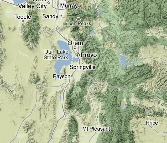 Trails360 Dripping Rock Trail Spanish Fork Canyon Utah Lakes